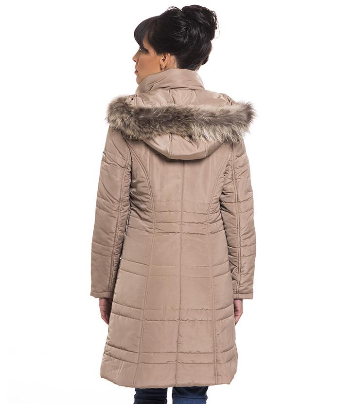 Μακρύ μπουφάν με φυσική γούνα - Antonella c0fe26754d8