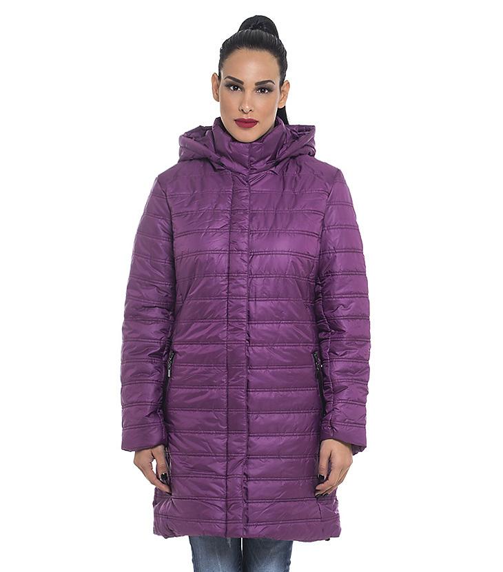 Μακρύ μπουφάν με αφαιρούμενη κουκούλα - Antonella c95cc941761